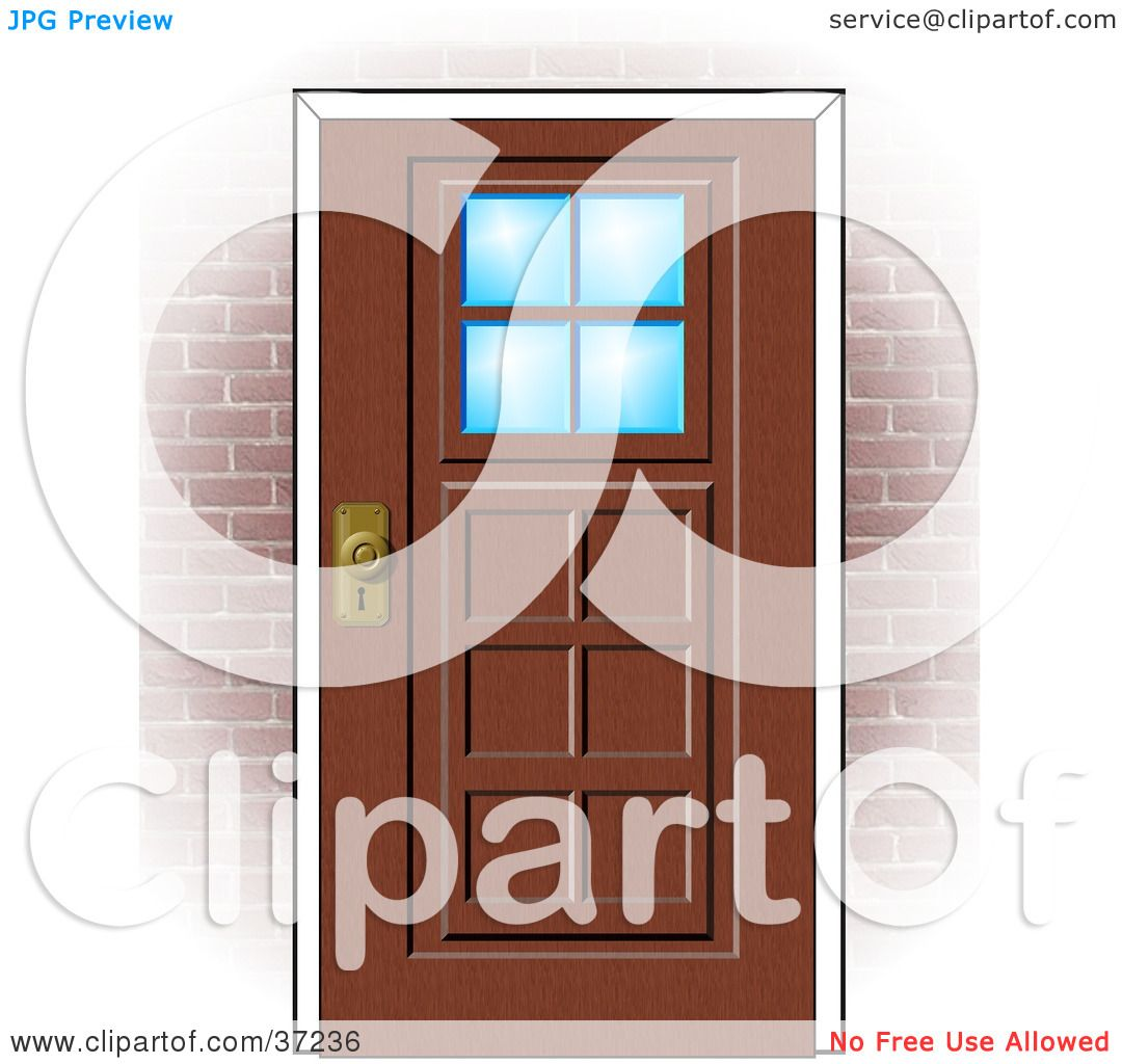 Front Doors Clipart Clipart illustration of a