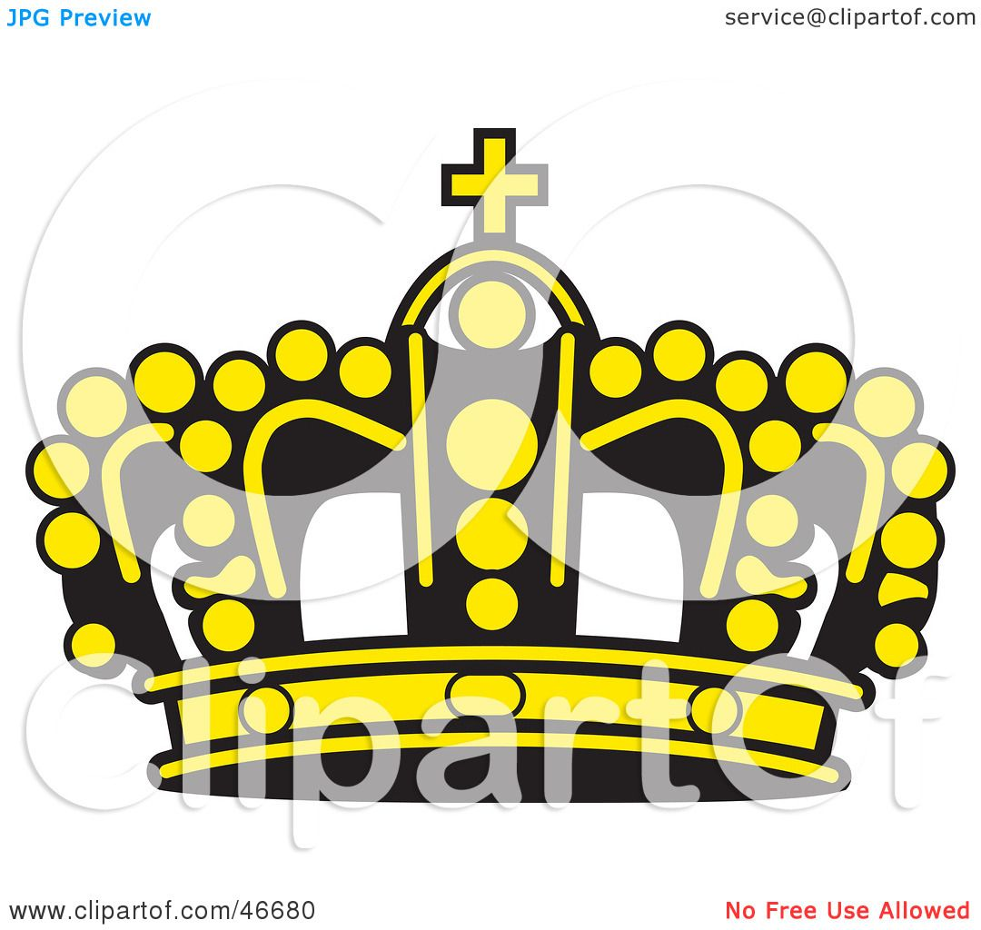 clipart illustration of a yellow beaded king s crown with a black rh clipartof com gold king crown clipart king crown clipart no background