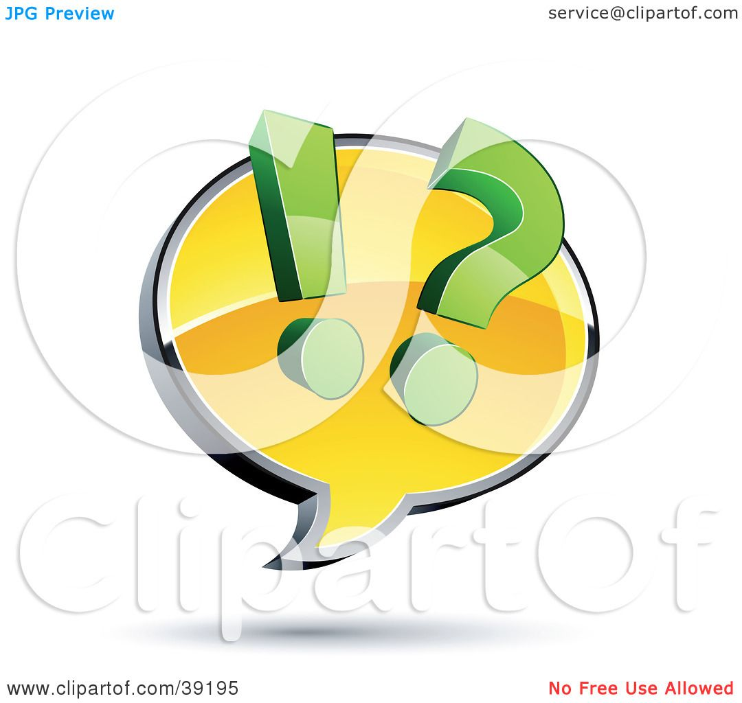 clipart illustration of a yellow customer service chat window clipart illustration of a yellow customer service chat window a question mark and exclamation point by beboy