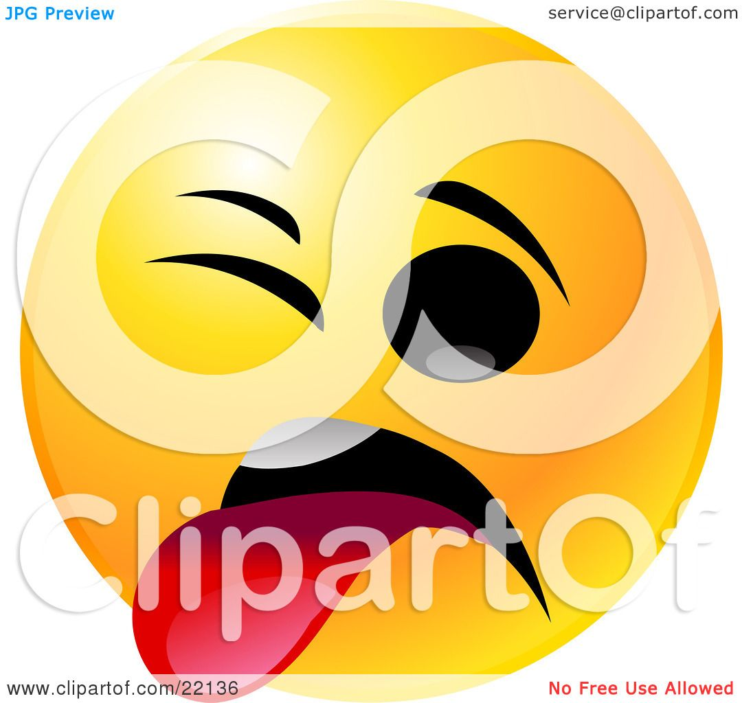 clipart illustration of a yellow emoticon face smiling and giving rh clipartof com