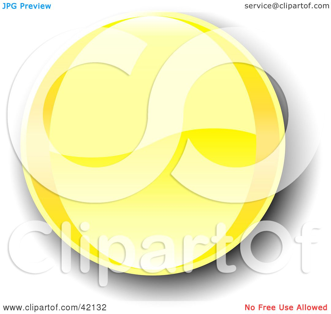 Sutes That Are Yellow: Clipart Illustration Of A Yellow Shiny Website Button With