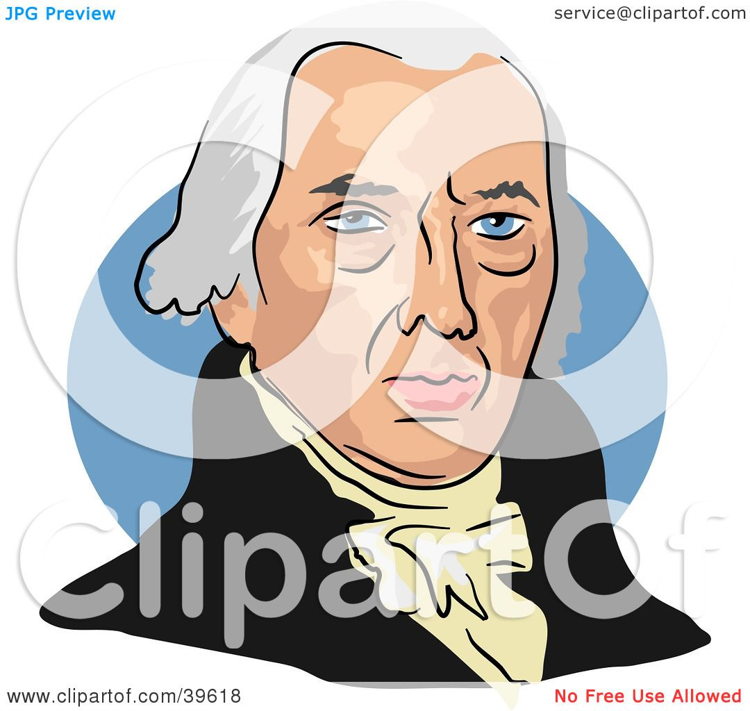 Clipart Illustration Of American President James Madison