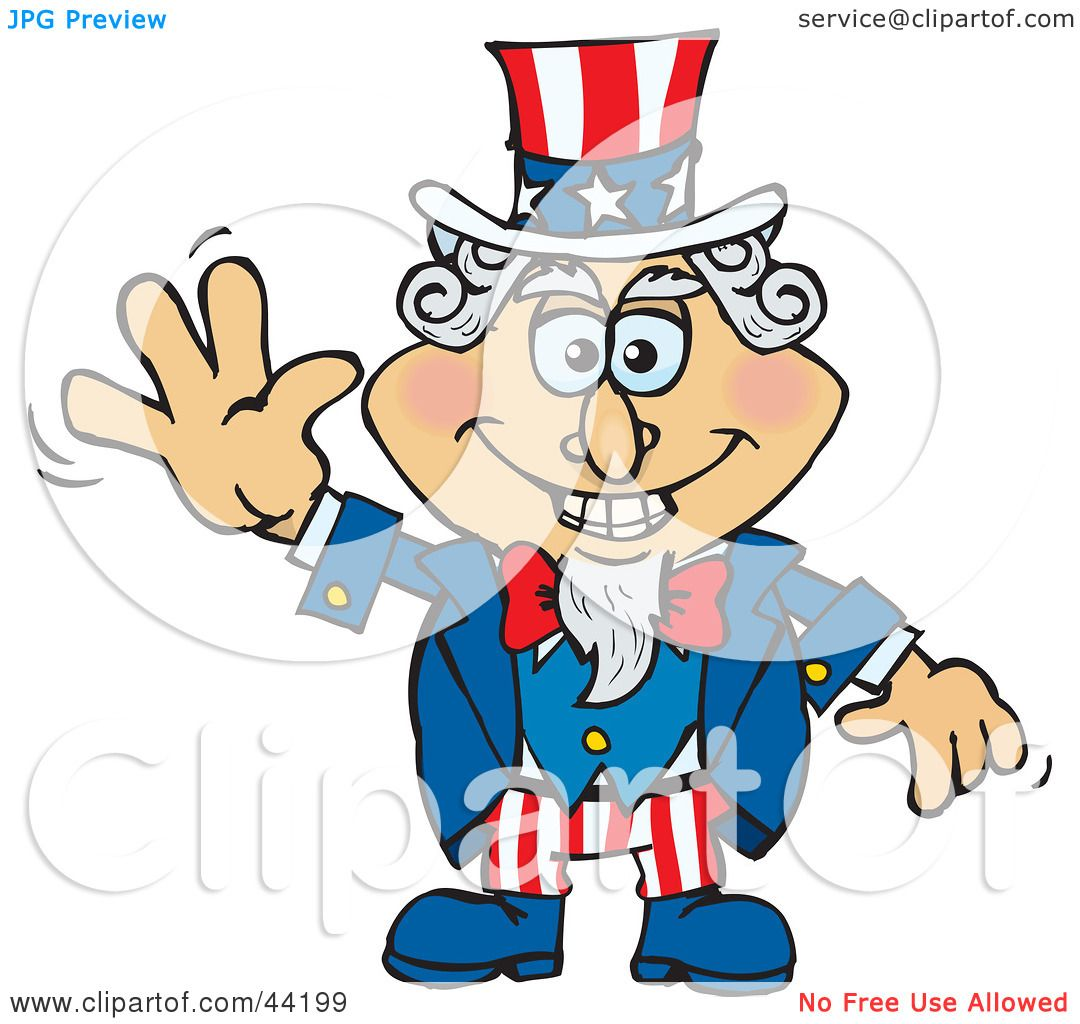 Clipart Illustration of an American Uncle Sam Smiling And ...