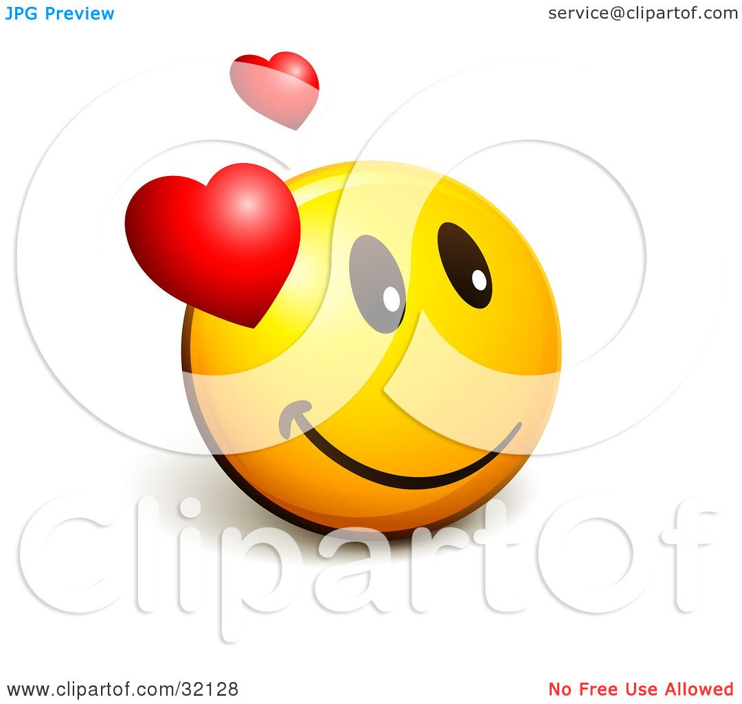 Clipart Illustration of an Expressive Yellow Smiley Face ...