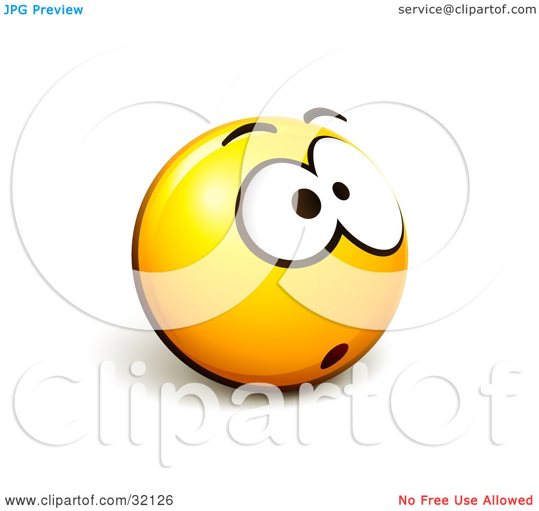 Clipart Illustration of an Expressive Yellow Smiley Face Emoticon ...