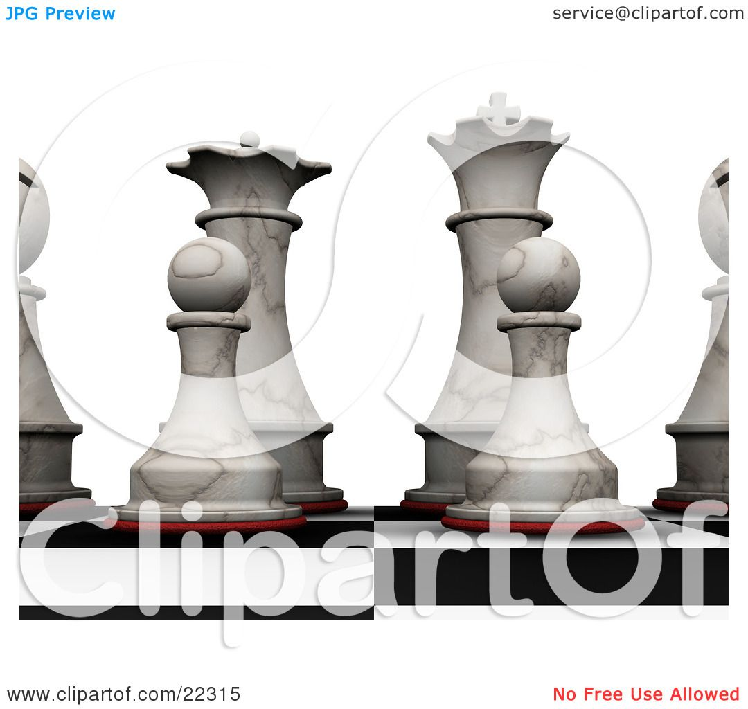 King And Queen Tattoo An ivory chess king, queen