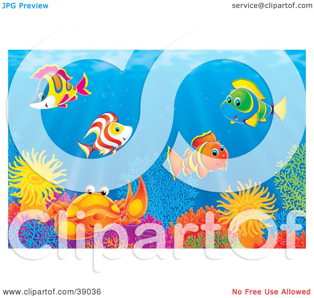 Clipart Illustration of an Underwater