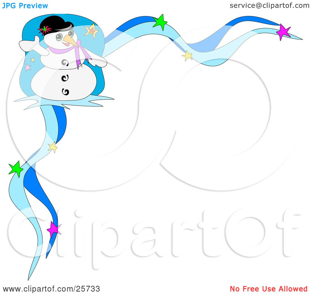 Clipart Illustration of Frosty The Snowman Wearing A Hat And ...