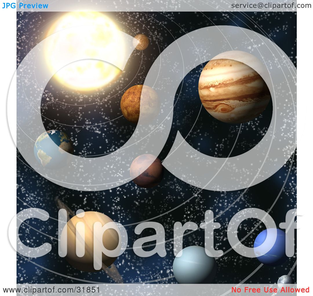 Clipart Illustration Of Planets Of Our Solar System In