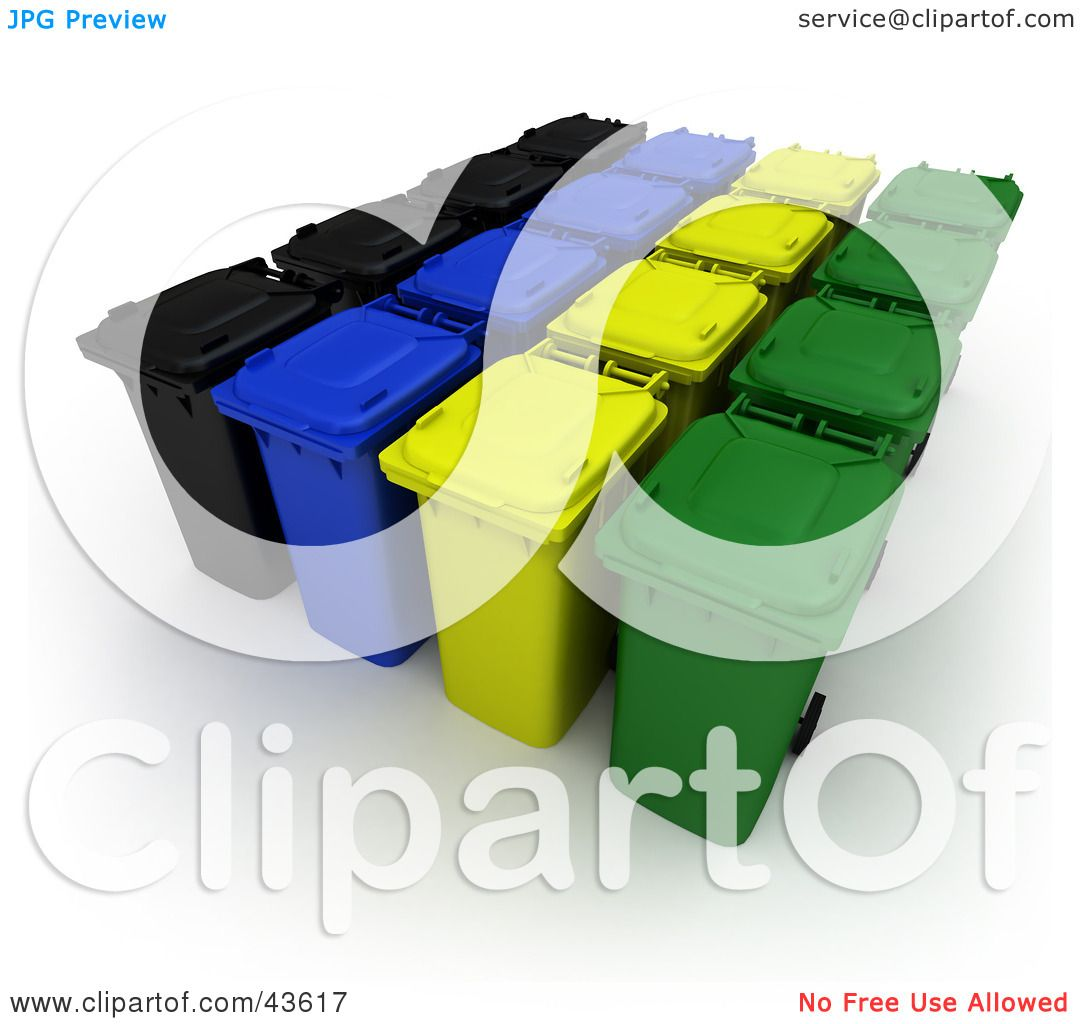 Clipart Illustration Of Rows Of Rolling 3d Black Blue