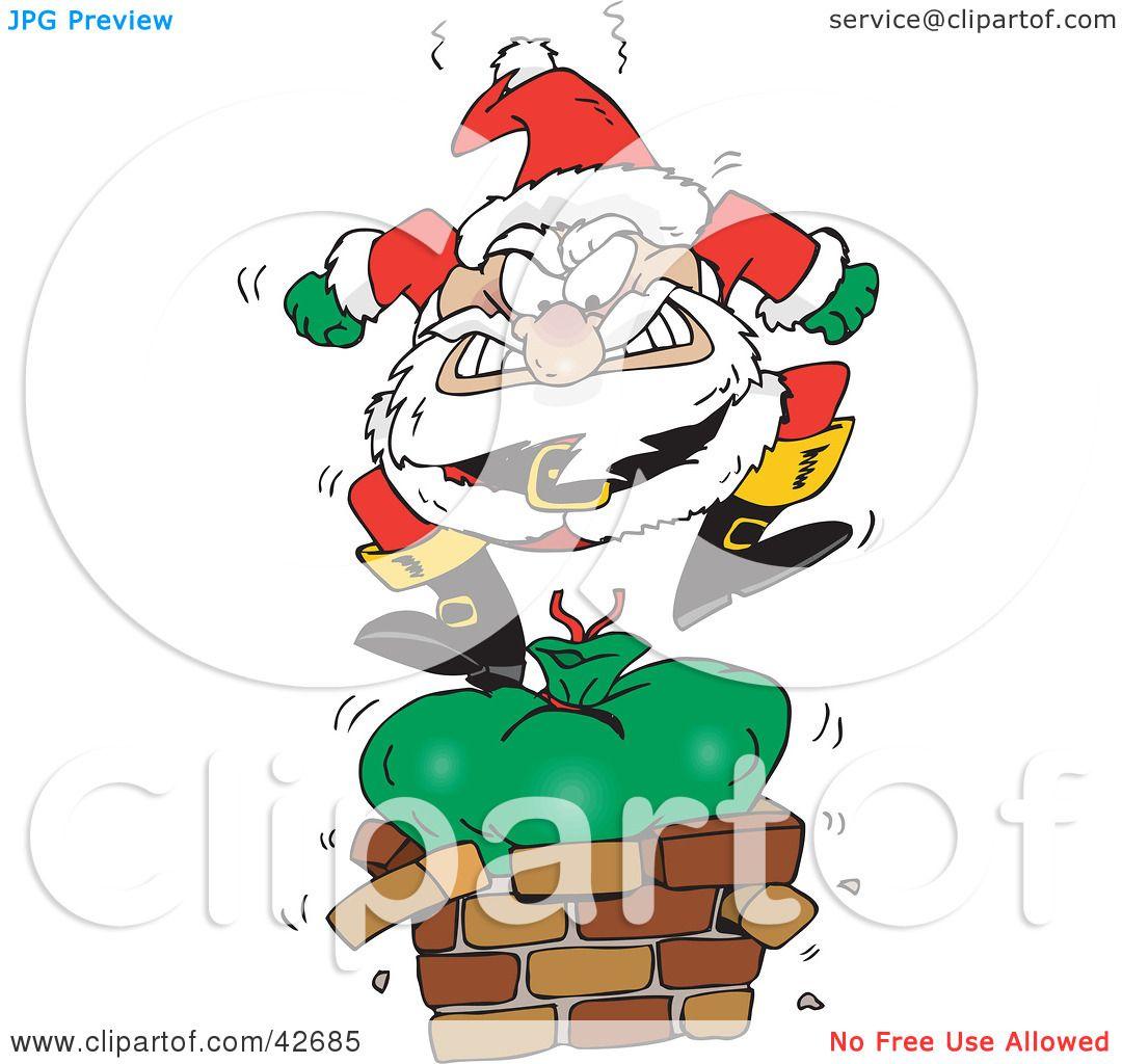 Angry Cartoon Santa Clipart illustration of santa