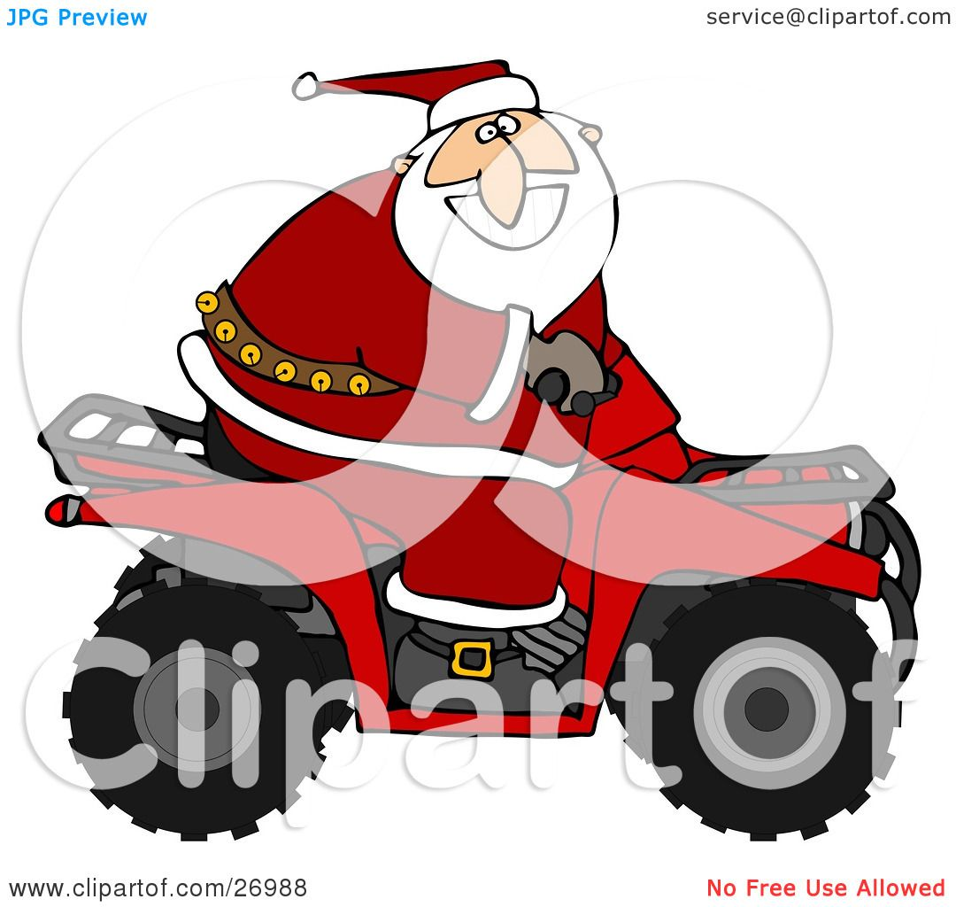 Clipart illustration of santa claus in his red suit - Clipart illustration ...
