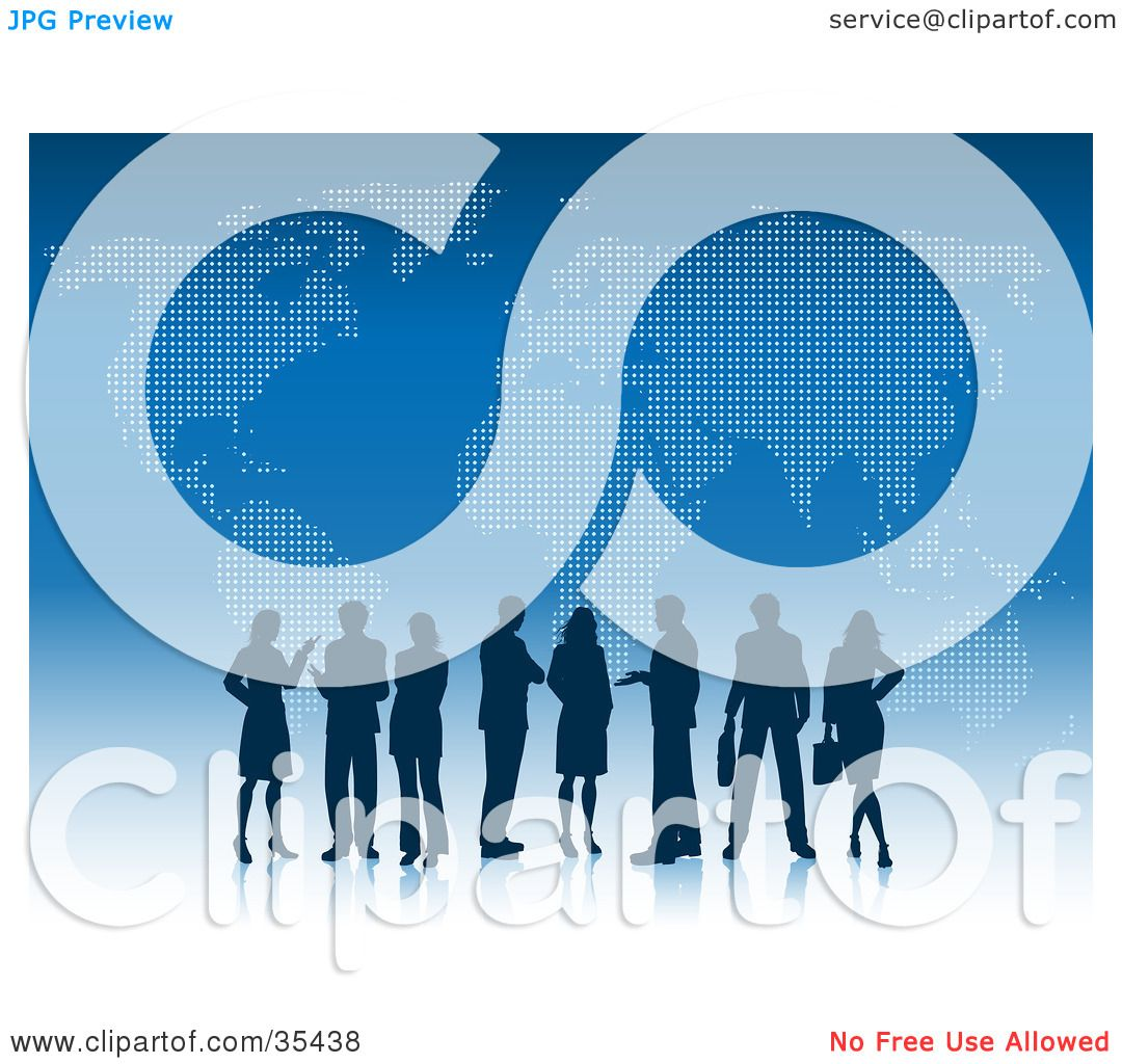 Clipart Illustration Of Silhouetted Professional Business