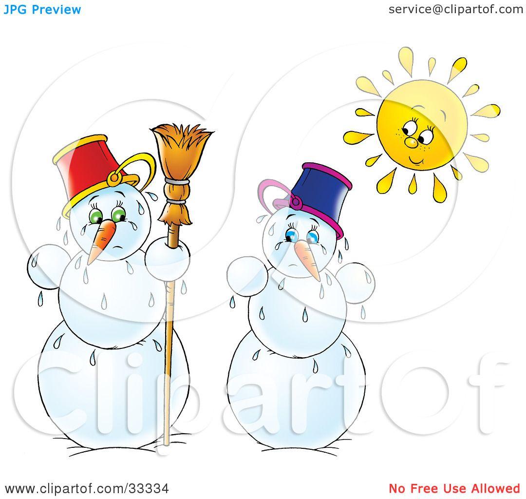 Royalty-Free (RF) Melting Snowman Clipart, Illustrations, Vector ... for Melting Snowman Clipart  70ref