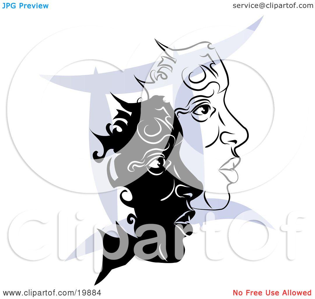 Gemini Horoscope Drawings a Blue Gemini Astrological