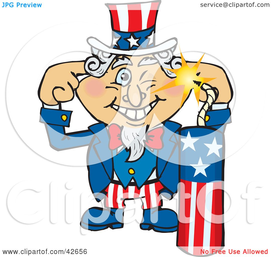 Clipart Illustration of Uncle Sam Plugging His Ears And ...