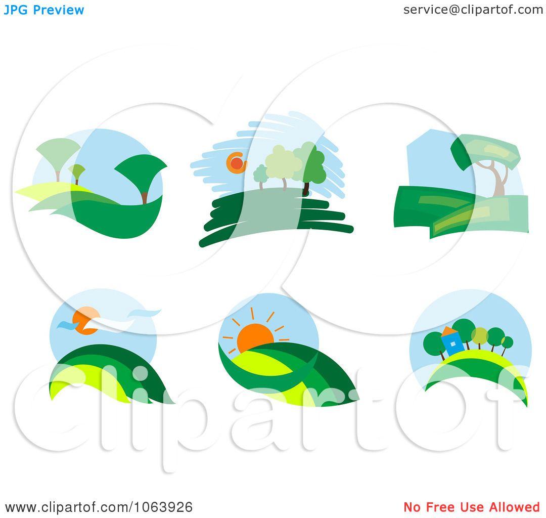 Landscape Illustration Vector Free: Clipart Landscapes Digital Collage