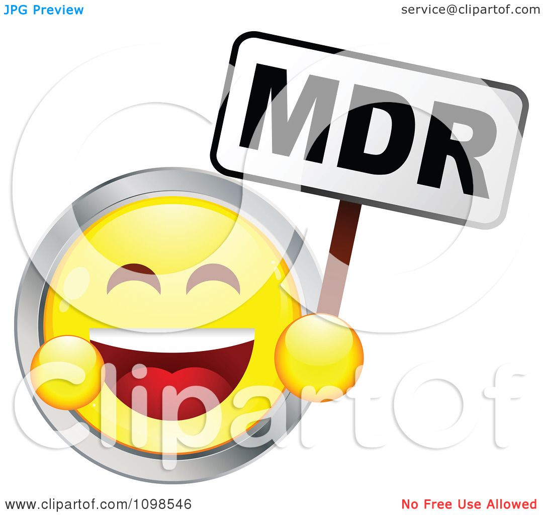 Clipart Laughing Yellow And Chrome Cartoon Smiley Emoticon