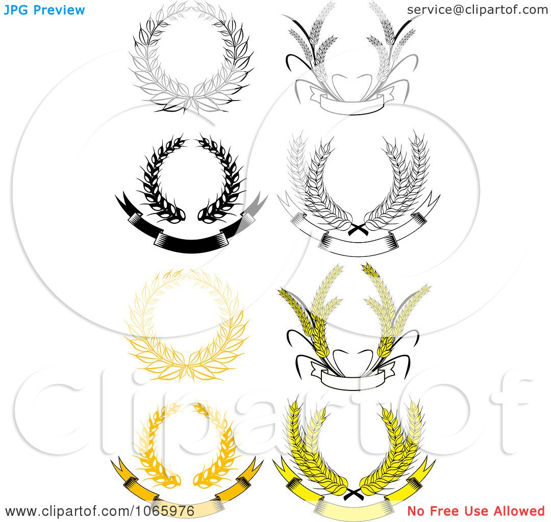 Clipart Laurel Wreaths 7 Royalty Free Vector