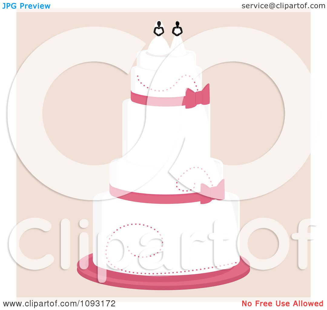 Clipart Layered Wedding Cake With A Lesbian Topper 2 ...