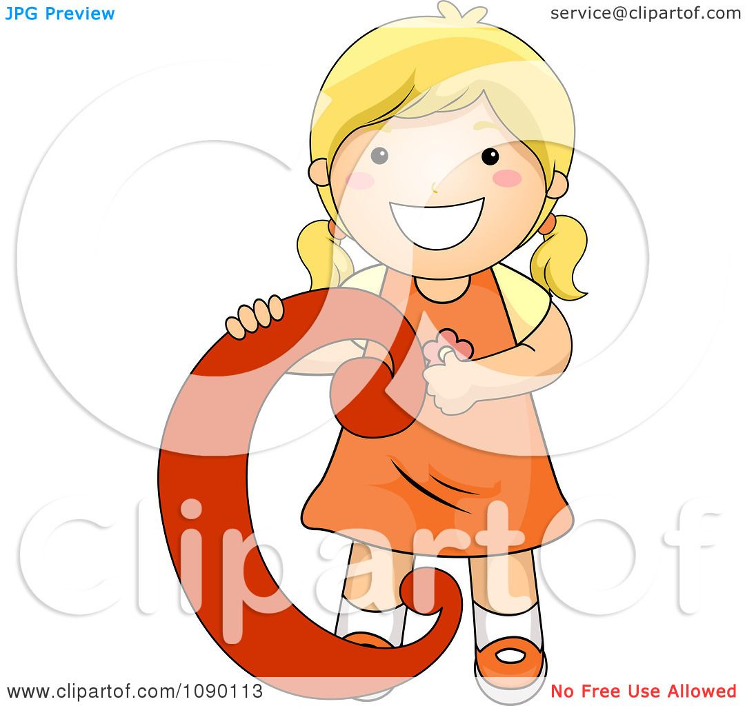 Clipart Letter C Girl Child