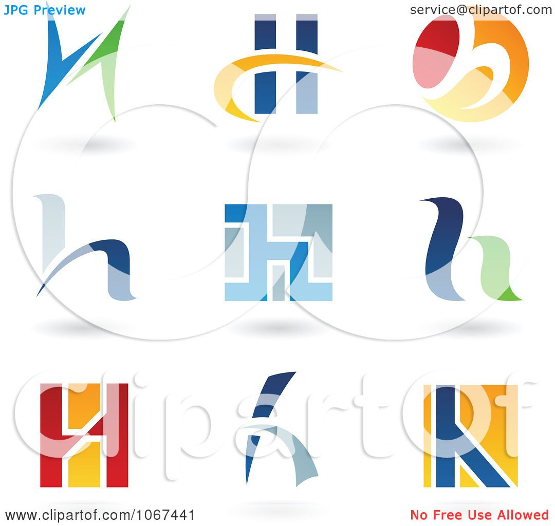 Clipart Letter H Logo Icons  H Logo