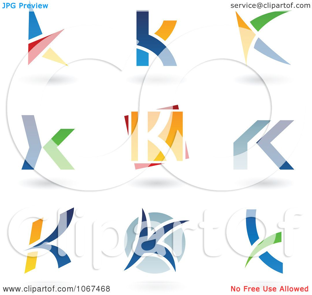 Royalty Free Clipart Illustration Of Letter K Logo Icons On A White