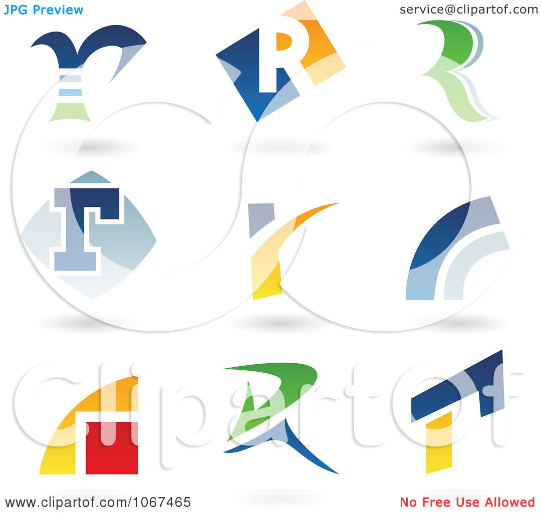 Clipart Letter R Logo Icons - Royalty Free Vector Illustration by ...