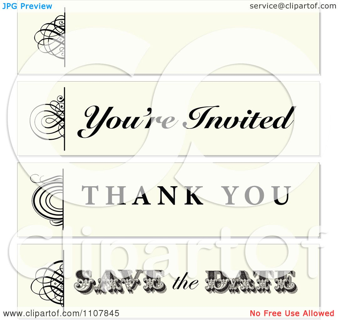 Clipart Long Horizontal Beige And Black Swirl Frames - Royalty Free ...