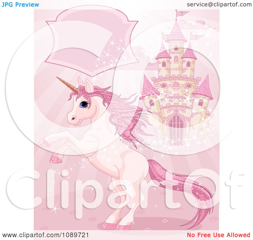 clipart magic unicorn rearing under a text box by a castle under construction clipart florida under construction clip art free download