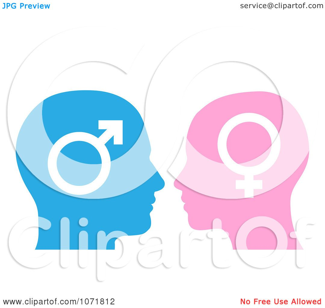 Clipart Male And Female Gender Symbol Faces In Profile Royalty