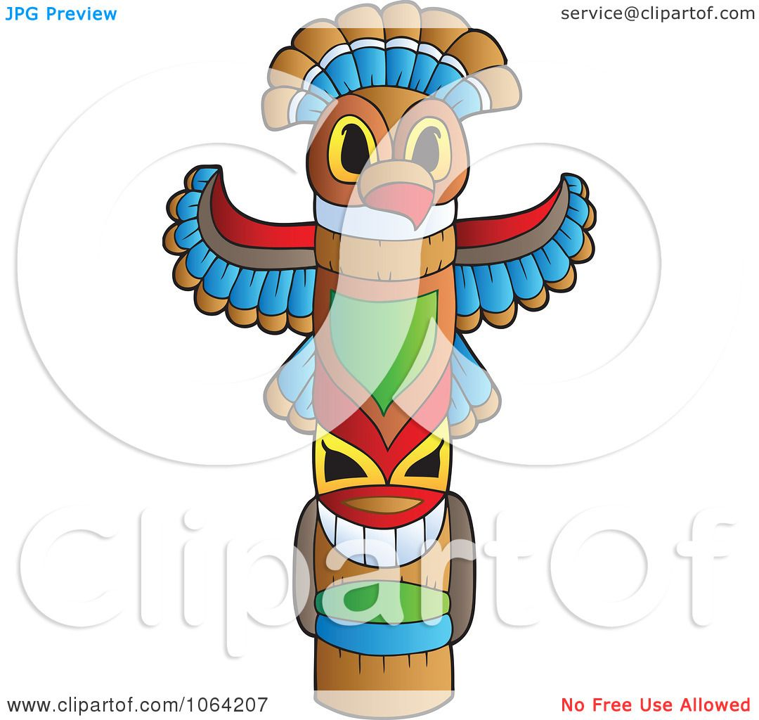 Clipart Native Totem Pole Royalty Free Vector
