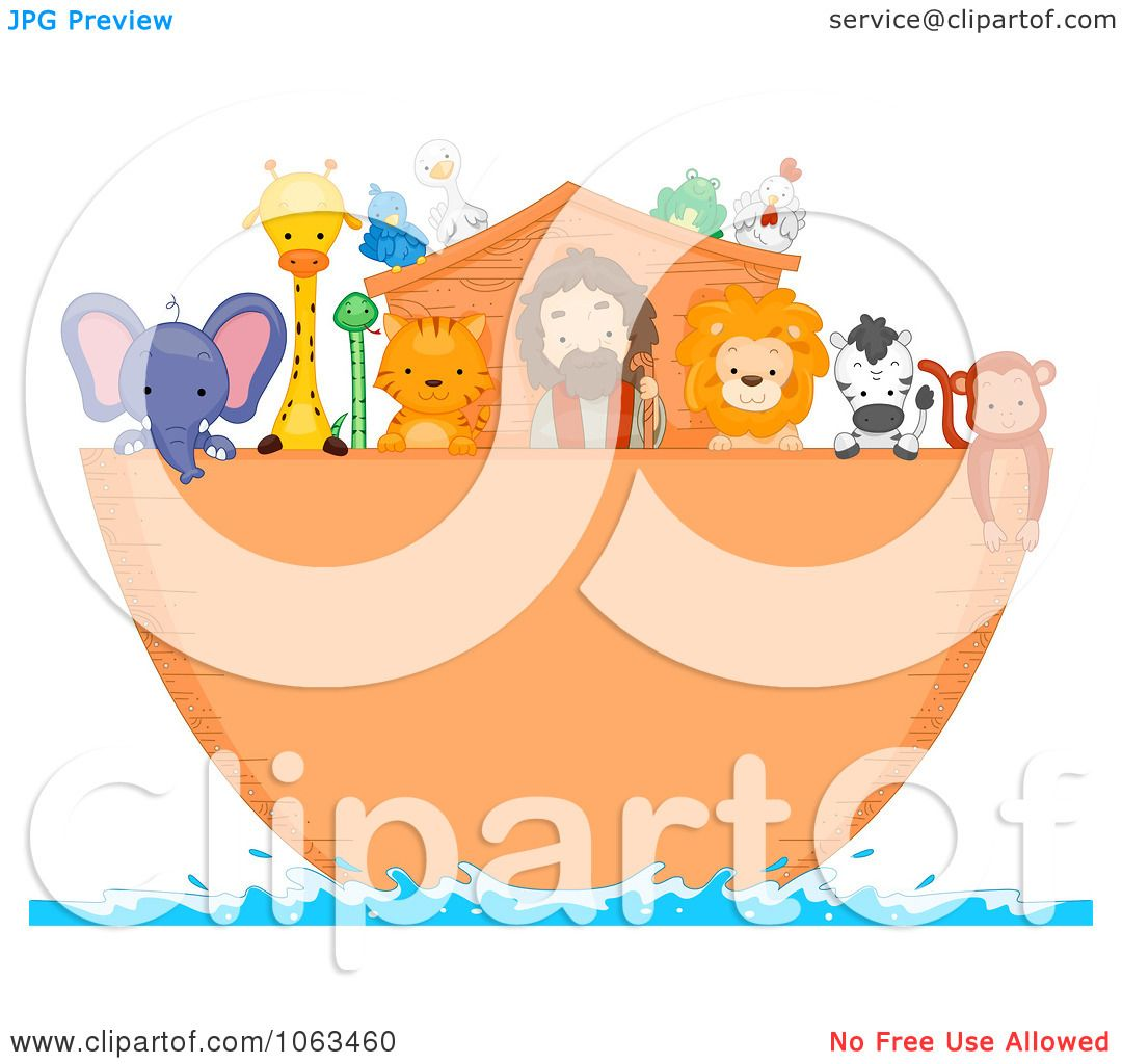 Clipart Noah And Animals On The Ark