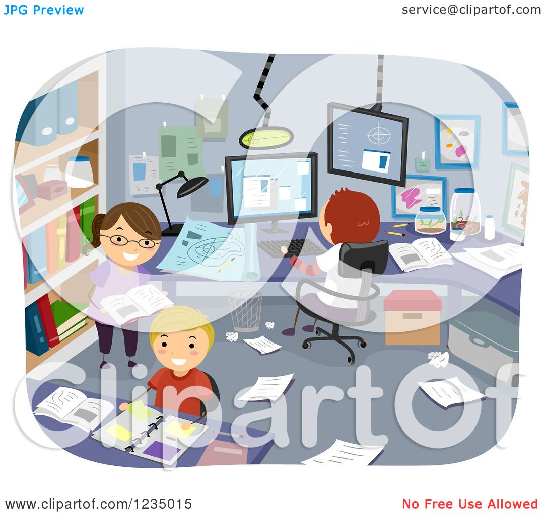 clipart o children researching and conducting an experiment in a clipart o children researching and conducting an experiment in a room royalty vector illustration by bnp design studio