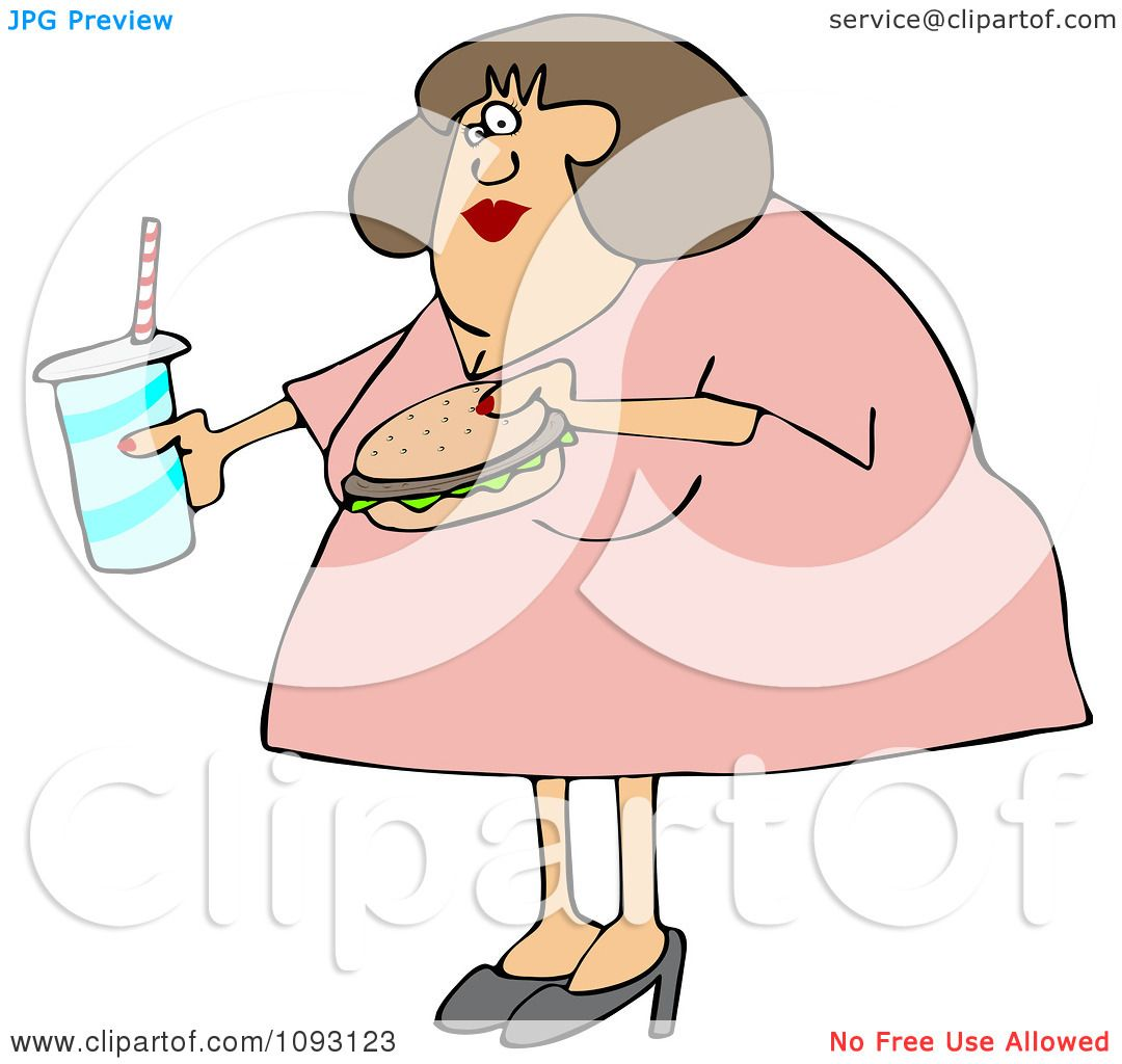 Clipart Obese W...