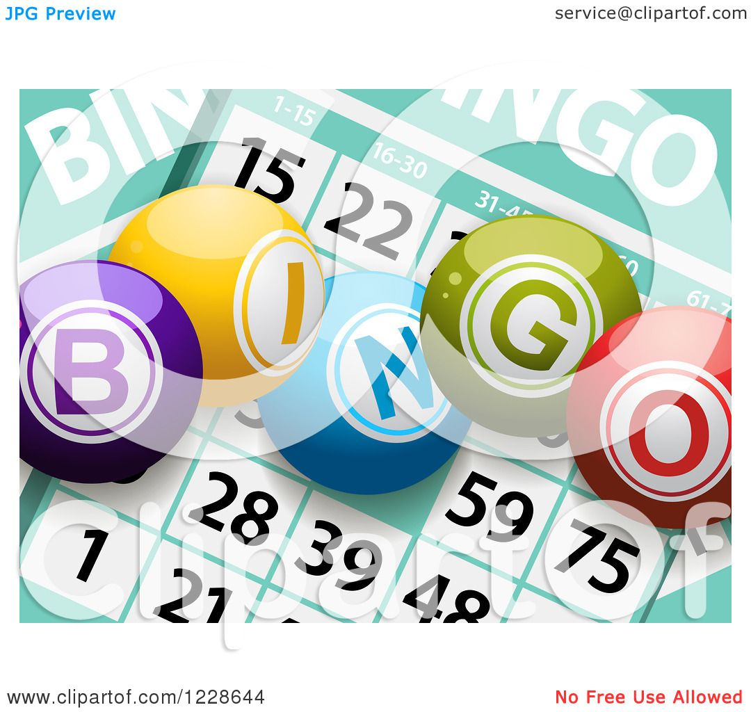clipart of 3d bingo balls over cards royalty free vector rh clipartof com free bingo clip art gallery free bingo clip art downloads