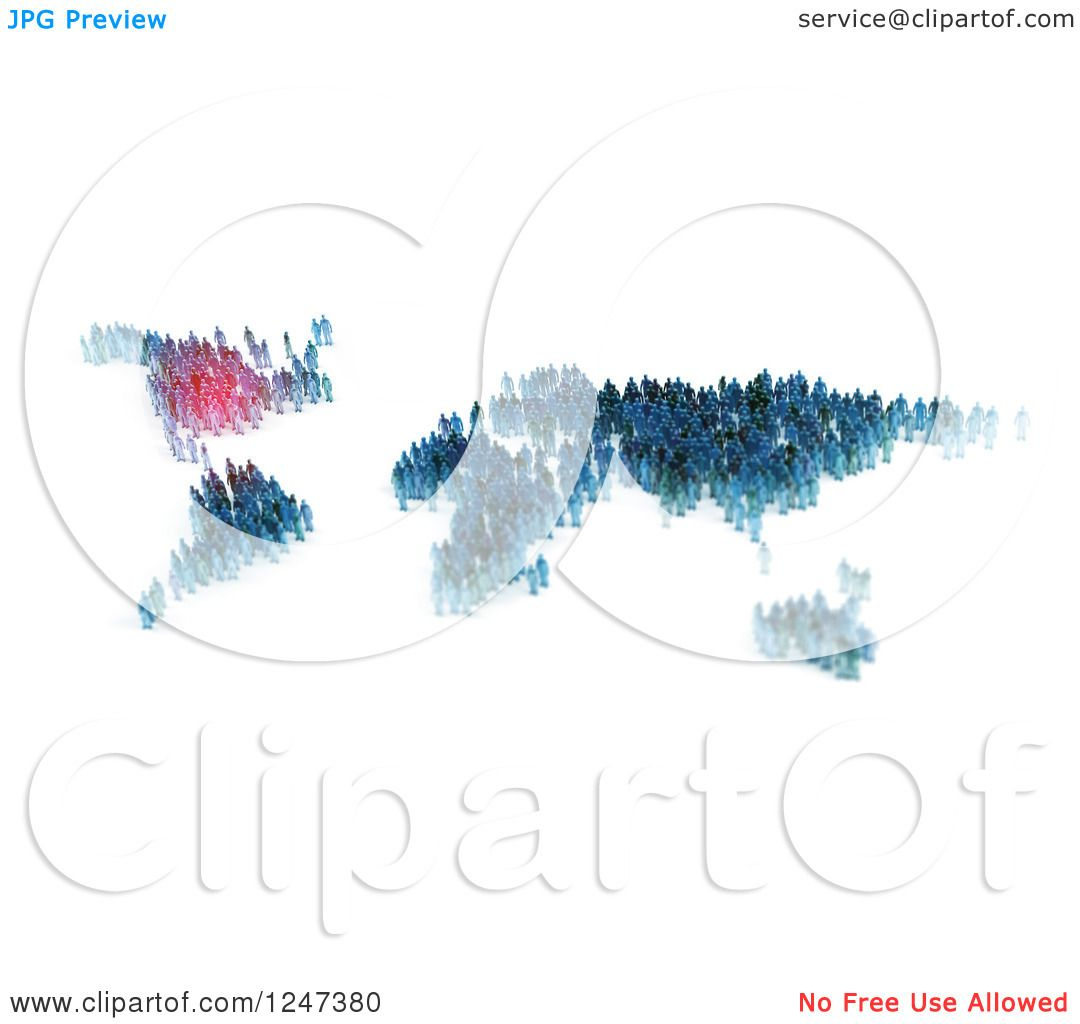 Clipart of 3d tiny people forming a world map with north america clipart of 3d tiny people forming a world map with north america highlighted royalty free illustration by mopic gumiabroncs Image collections