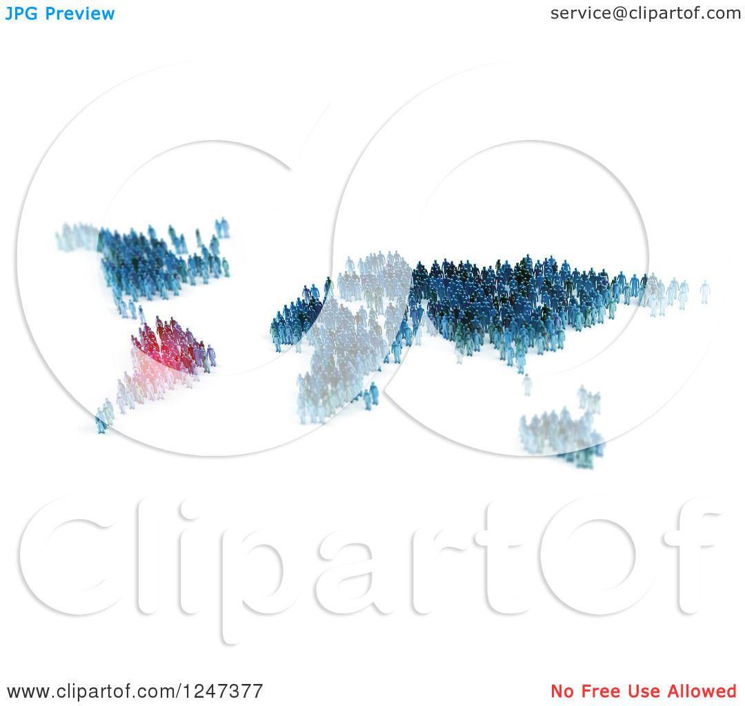 Clipart of 3d tiny people forming a world map with south america clipart of 3d tiny people forming a world map with south america highlighted royalty free illustration by mopic gumiabroncs Choice Image