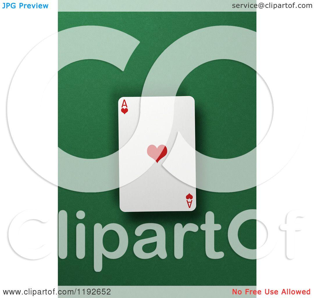3 card draw green felt