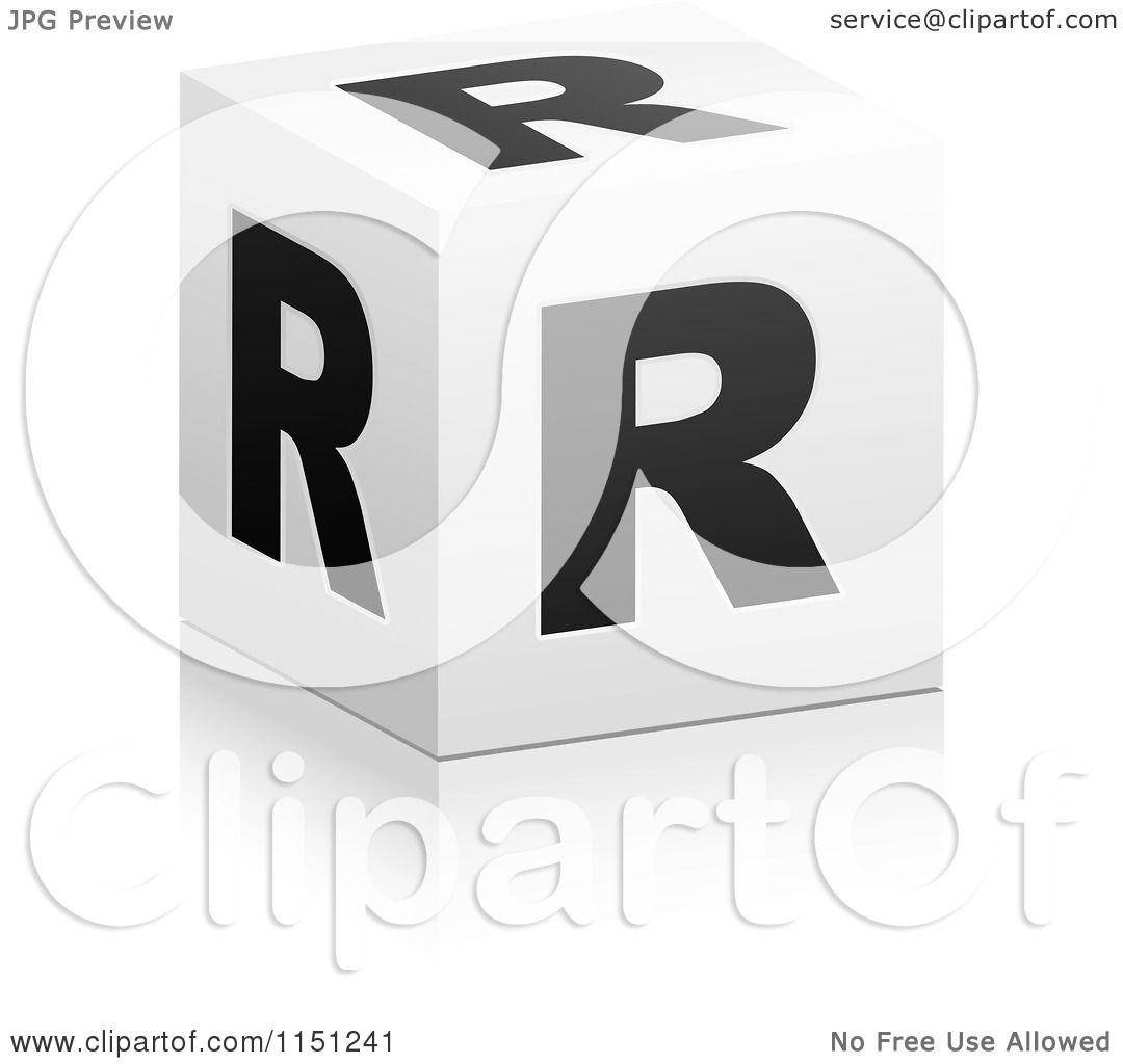 Clipart of a 3d black and white letter r cube box royalty free clipart of a 3d black and white letter r cube box royalty free vector clipart by andrei marincas thecheapjerseys Images