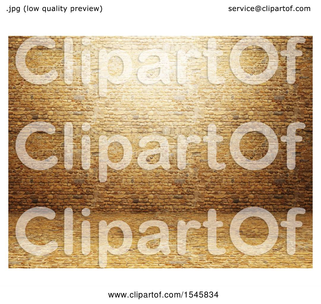 Clipart of a 3d Brick Wall and Interior - Royalty Free Illustration ...