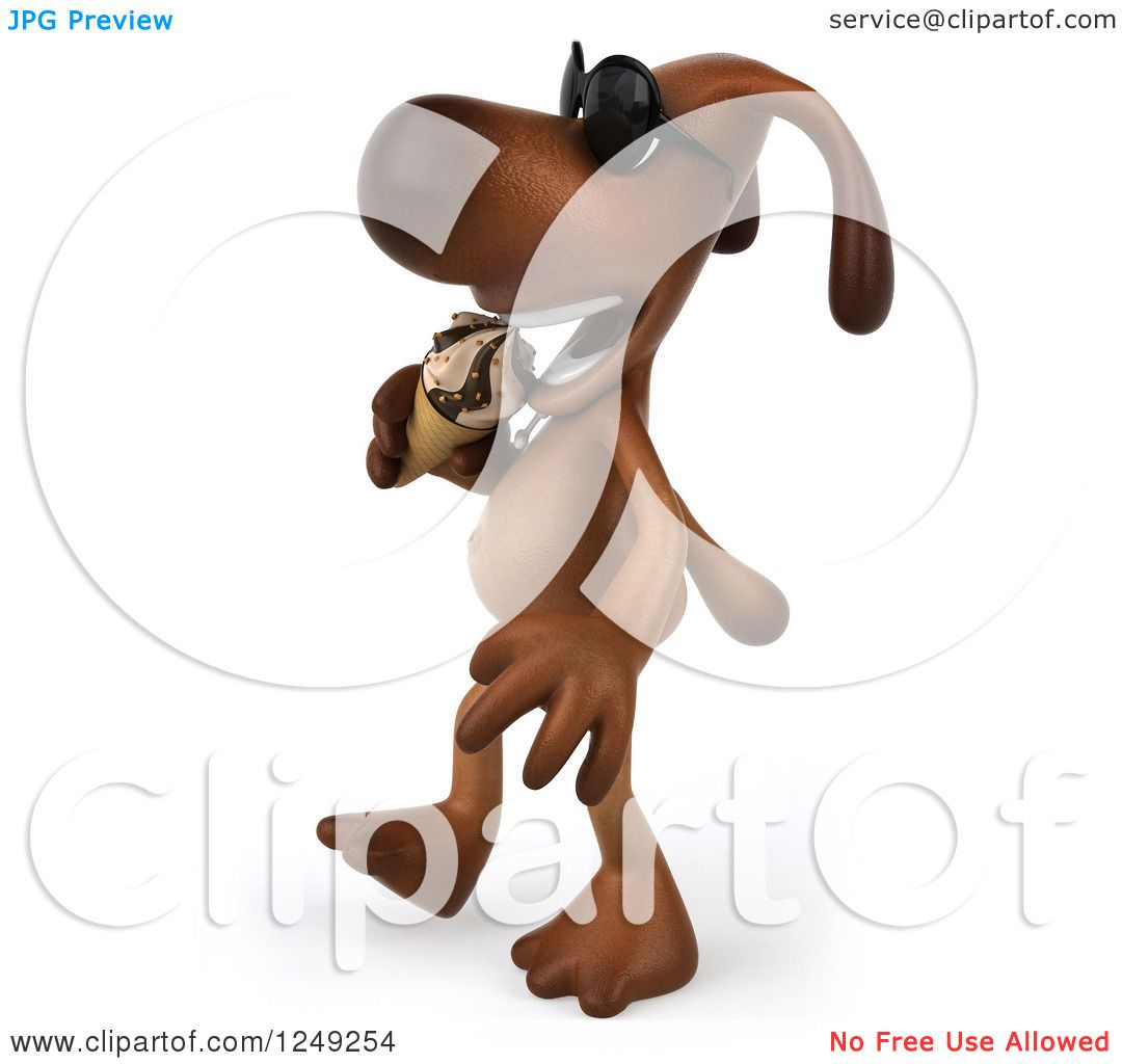 Dog Eating Clipart Clipart of a 3d Brown Lab Dog