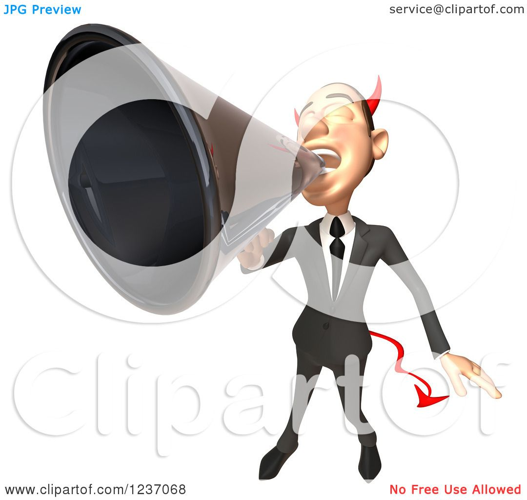 clipart man with megaphone - photo #48