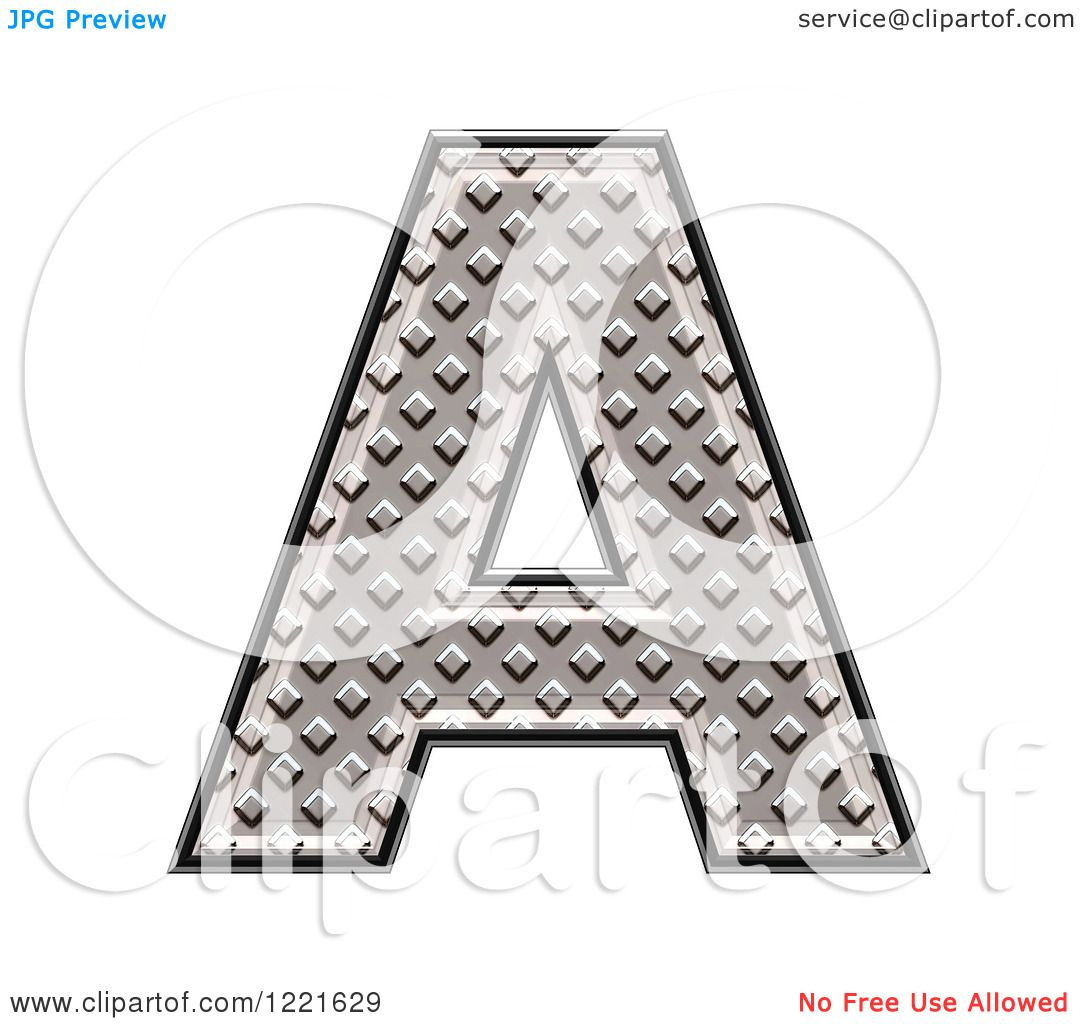 clipart of a 3d diamond plate capital letter a royalty free illustration by chrisroll 1221629. Black Bedroom Furniture Sets. Home Design Ideas