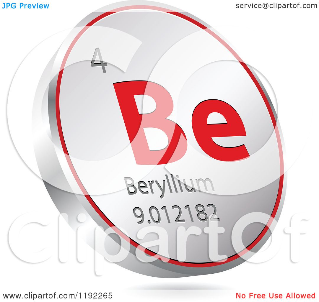 Clipart of a 3d floating round red and silver beryllium chemical clipart of a 3d floating round red and silver beryllium chemical element icon royalty free vector illustration by andrei marincas buycottarizona Image collections