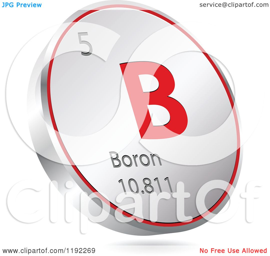 Clipart of a 3d floating round red and silver boron chemical clipart of a 3d floating round red and silver boron chemical element icon royalty free vector illustration by andrei marincas buycottarizona