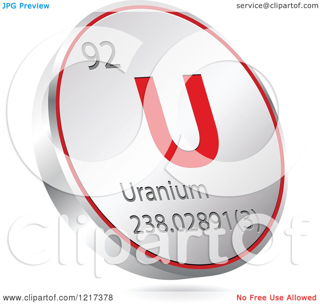 Clipart of a 3d floating round red and silver uranium chemical clipart of a 3d floating round red and silver uranium chemical element icon royalty free vector illustration by andrei marincas buycottarizona Images
