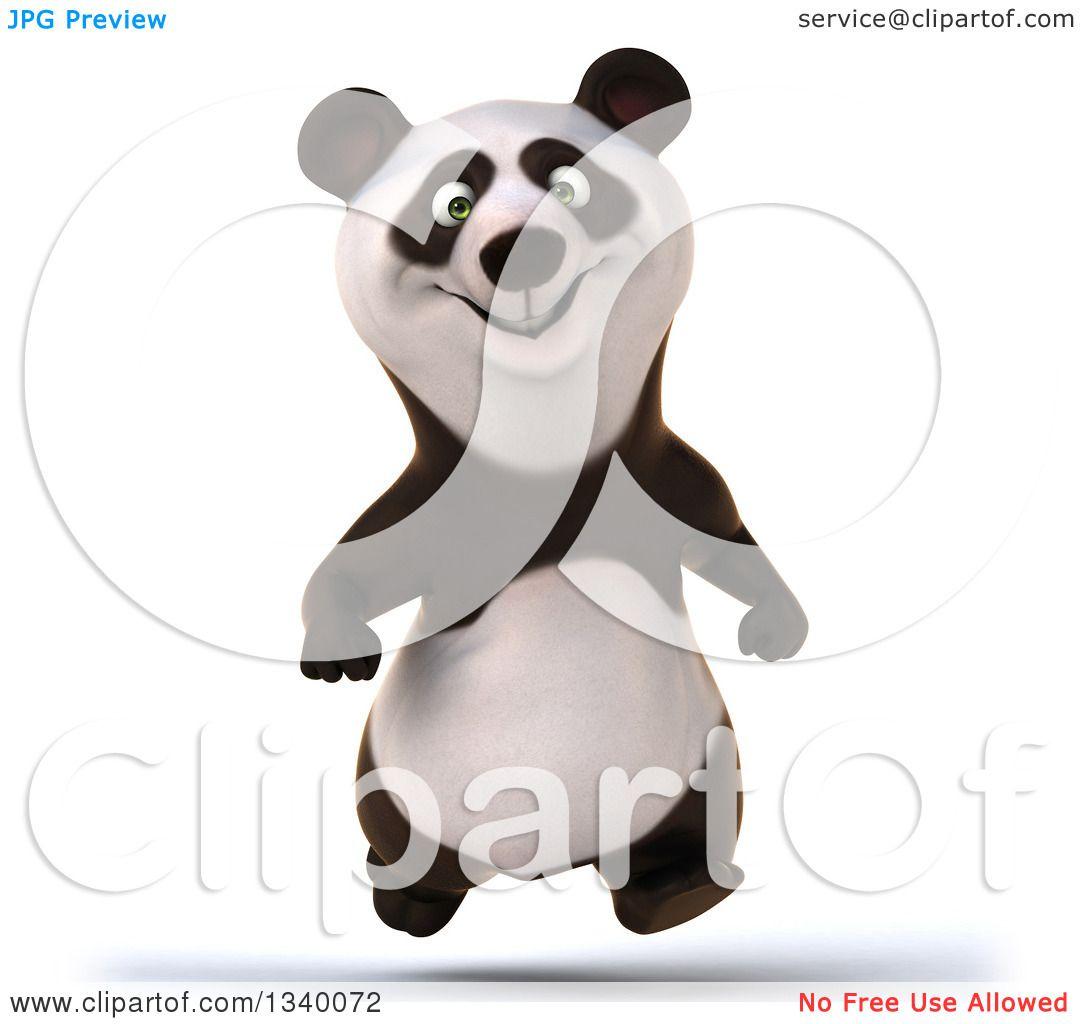 clipart panda running - photo #46