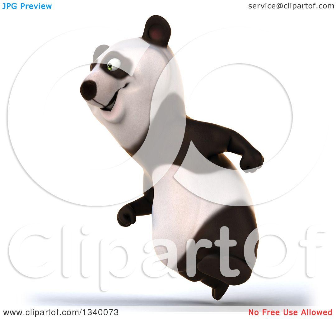 clipart panda running - photo #32