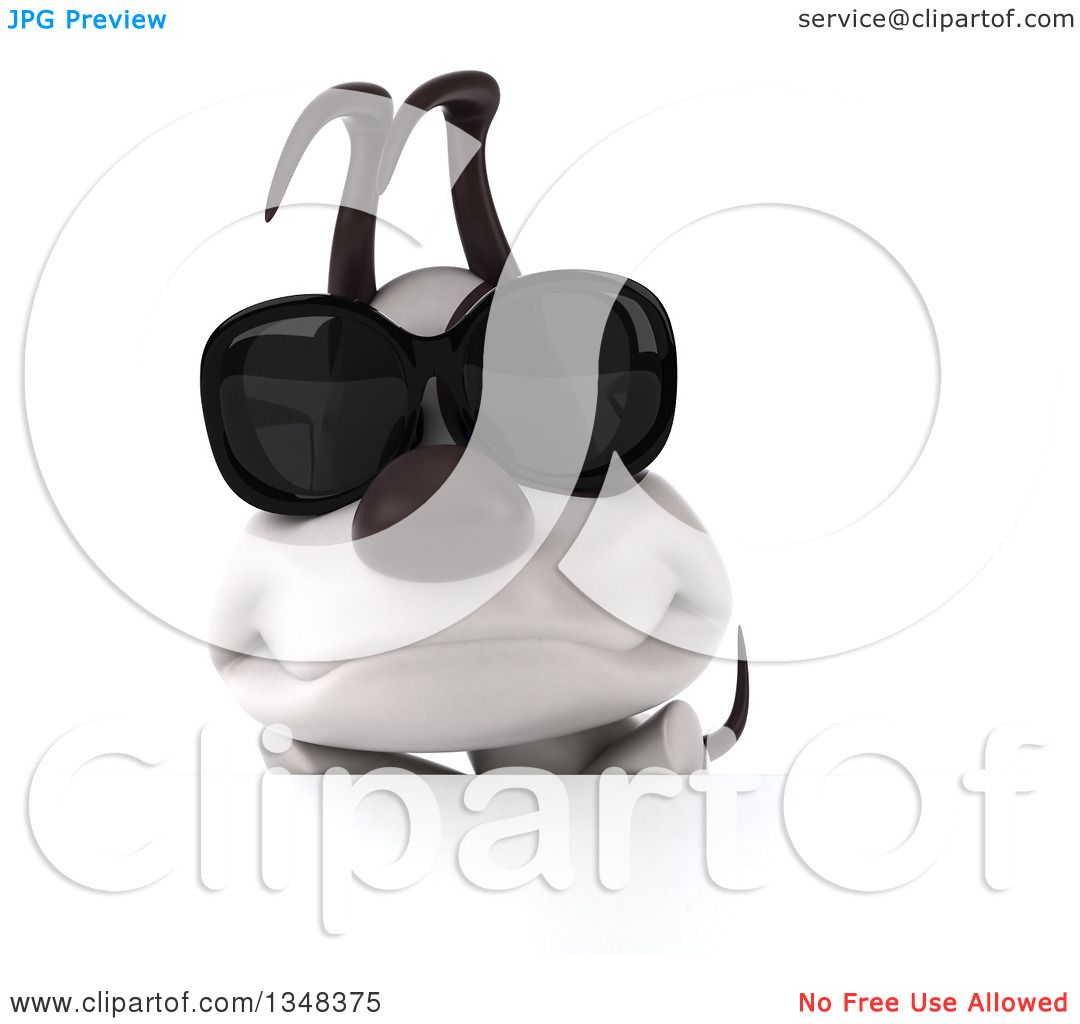 Clipart of a 3d Jack Russell Terrier Dog Wearing ...
